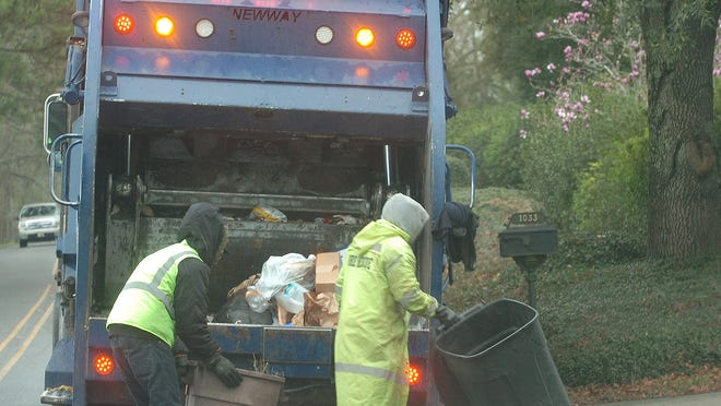 Garbage collection in St. Landry Parish.