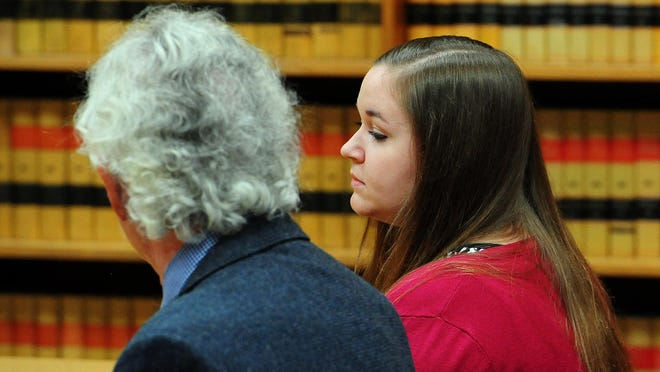 Amanda Oakley pleads guilty to one count of animal abuse at the Marion County Courthouse, on Wednesday, June 24, 2015, in Salem, Ore.