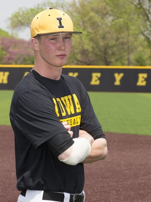 Iowa junior Tyler Peyton grew up in Grimes as a Hawkeye fan and always wanted to play Division I baseball in the Midwest.