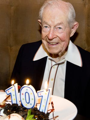 Wilbur Jones celebrated his 101st birthday in 2013, appropriately enough, at Tallahassee's former 101 Restaurant.