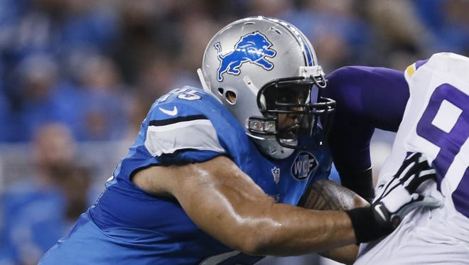 Lions guard Larry Warford will spend part of his Thanksgiving day trying to block Minnesota Vikings defensive tackle Linval Joseph.