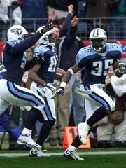 "Kevin Dyson reaches the end zone on the ""Music City"