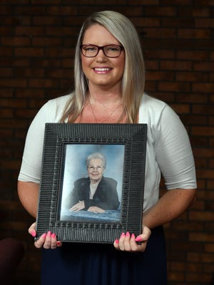Amber Bobbitt holds a photograph of her grandmother Betty Arent. Bobbitt won a spot on the November ballot to run for Lancaster City Council at-large as a Democratic candidate. Arent was on city council in the 1980s. Her mother Melody Bobbitt is the current first ward councilwoman and is running unopposed in November.