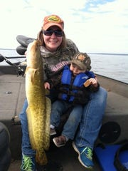 Lacey and Boone Kastern with this eelpout.