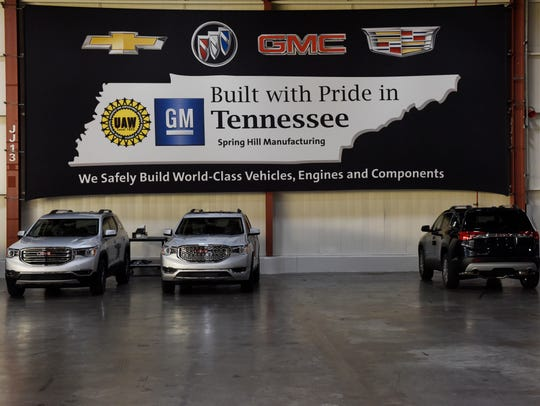 The GM Spring Hill manufacturing plant Dec. 8, 2016