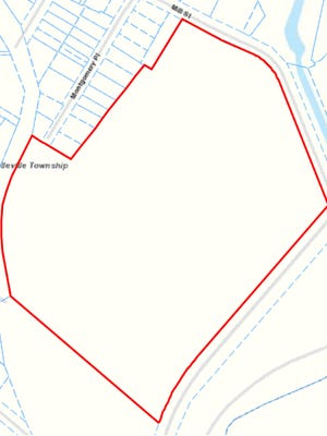 A New Jersey tax map details the 18.7 acres where the former Roche Diagnostic facility in Belleville stood.