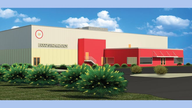 Rendering of Food Commercialization Center planned for Bridgeton. The Cumberland County Improvement Authority is heading the project.