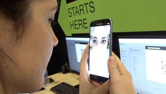 Setting up biometrics at Money2020