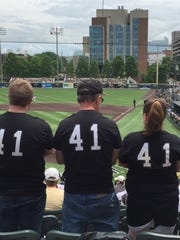 Vanderbilt fans (from left to right) Gary, Lee and