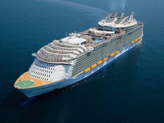 At 226,963 tons, Royal Caribbean's new Harmony of the