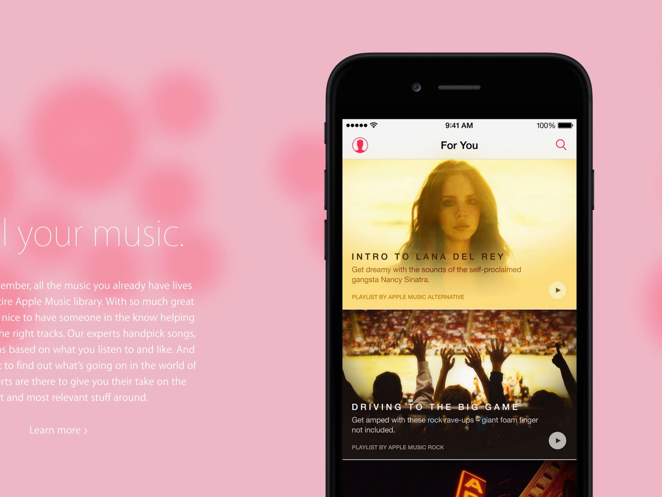 Apple Music is a monthly $9.99 music subscription service