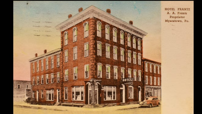 Historic postcards from the Lebanon County Historical Society. Hotel Frantz, Myerstown, Pa.