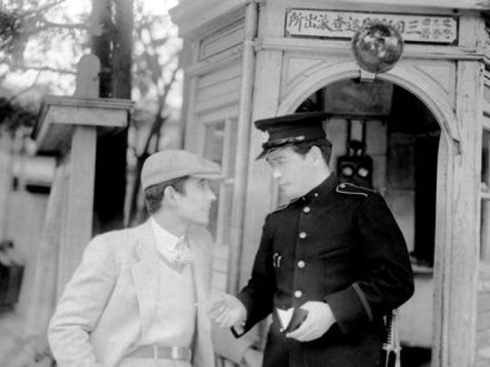 The Policeman  ( A recently rediscovered Japanese silent film to be screened after the annual James Card Memorial lecture on Oct. 27.