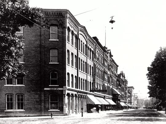 The Stickley Brandt Furniture Company on the corner