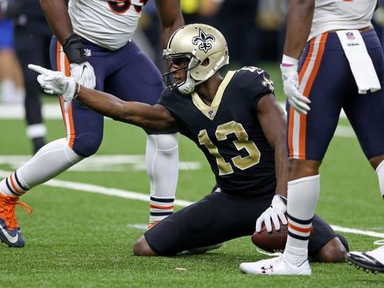 Saints wide receiver Michael Thomas has 42 receptions for 480 yards this season, but only two touchdowns.