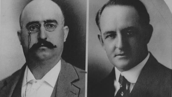 Incumbent Democratic Gov. George W.P. Hunt, left, and