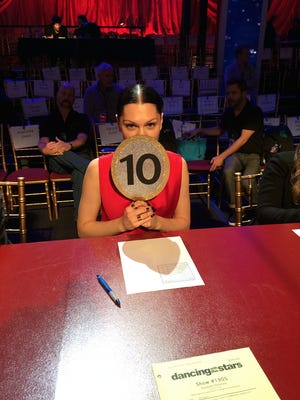 """Jessie J on the """"Dancing With the Stars"""" judges' panel."""