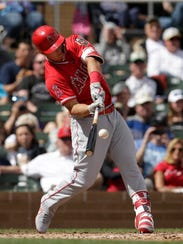 The Angels' Mike Trout starts the season once again