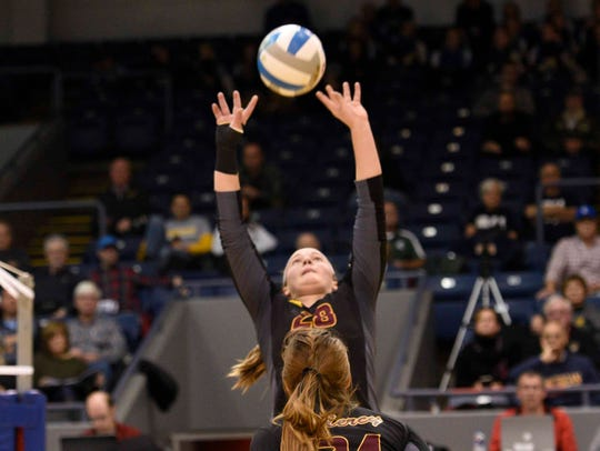 Farmington Hills Mercy setter Julia Bishop made first team All-State in girls volleyball.