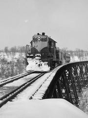In March 1960, this Missouri Pacific passenger train
