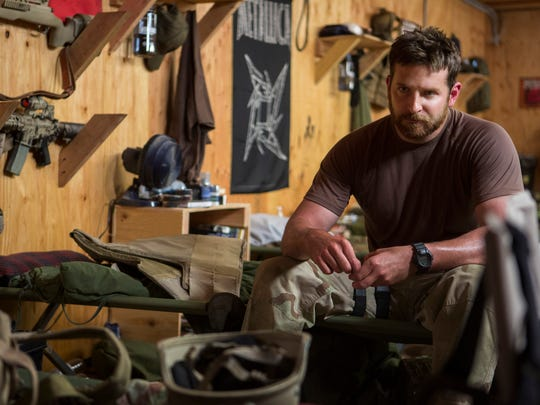 "In this image released by Warner Bros. Pictures, Bradley Cooper appears in a scene from ""American Sniper."" Cooper was nominated for an Oscar for best actor on Thursday for his role in the film."