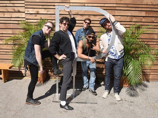 From left to right: Will Donnelly, Adam Weiner, Lucas Rinz, Larry Scotton and James Everhart of Low Cut Connie at a  Pandora showcase at South by Southwest in Austin, Texas last month.