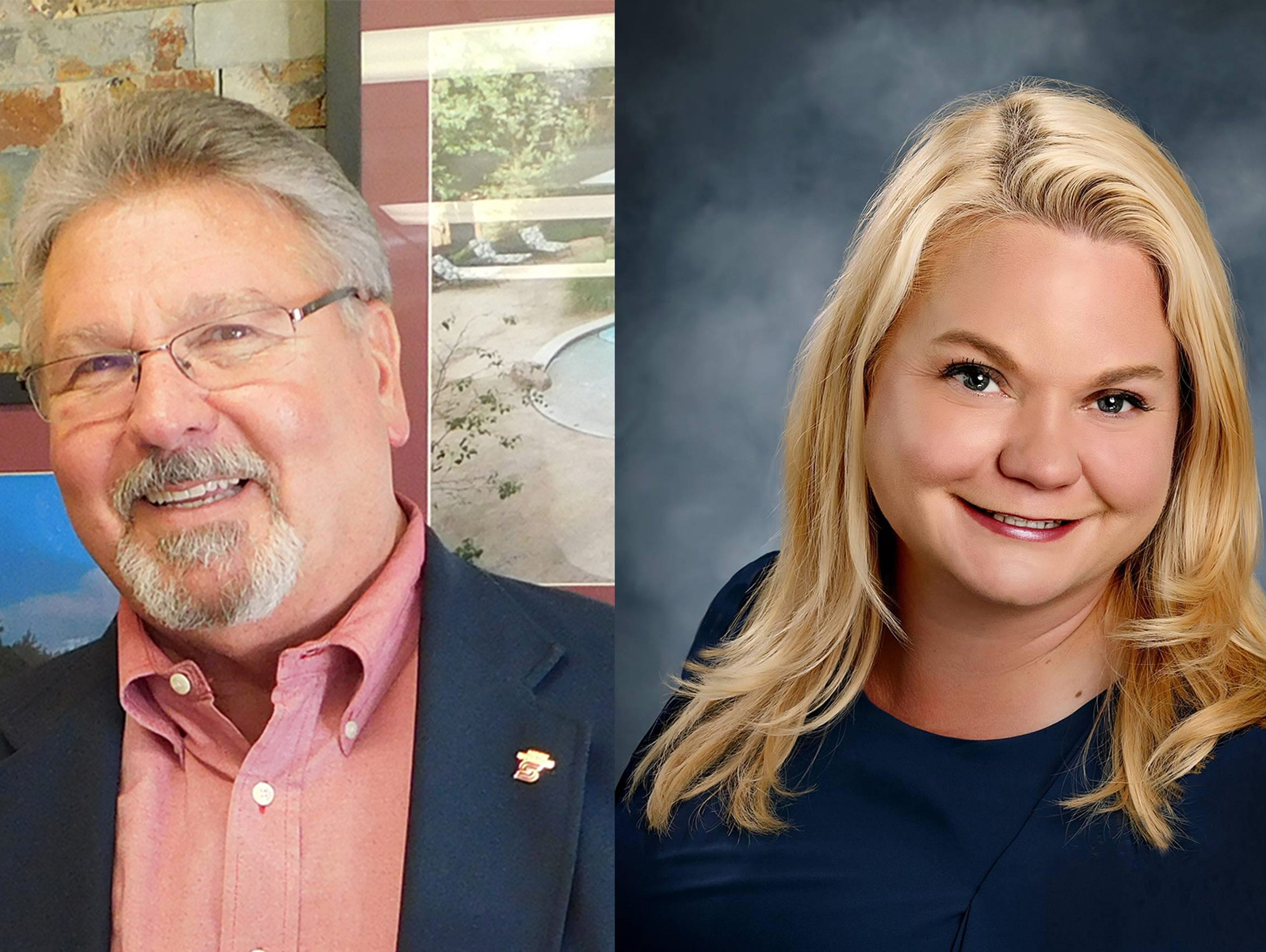 Craig Fishel and Debra Brady are competing for City