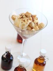Maple syrup sundae