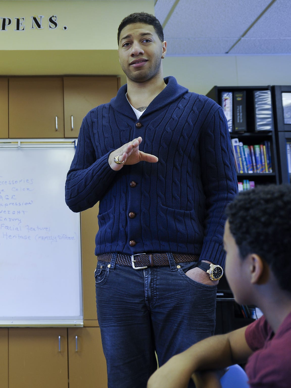 Royce White, shown here at a speaking engagement in