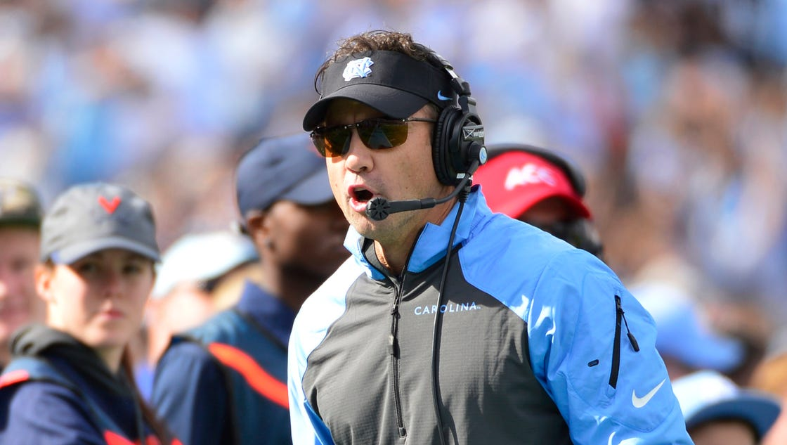 Carolina coach larry fedora admires former assistant s goat gumption