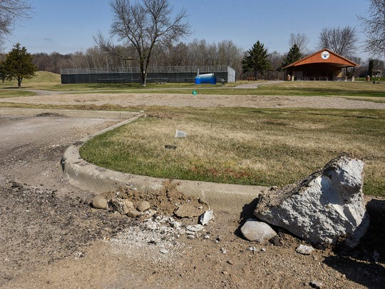 Val Smith Park in Sartell, shown Tuesday, May 1, will soon be undergoing a remodel and parking lot expansion.