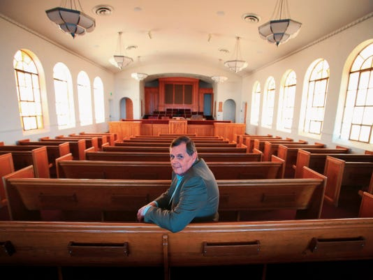 Robert Dinsmoor on Tuesday sat in the newly renovated Douglas Street chapel at 3625 Douglas.