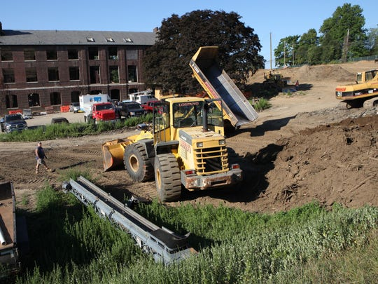 Work continues Wednesday on the Boyce Thompson development
