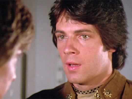 Rick Springfield as Lieutenant Zac in Battlestar Galactica, one of dozens of TV roles for Springfield