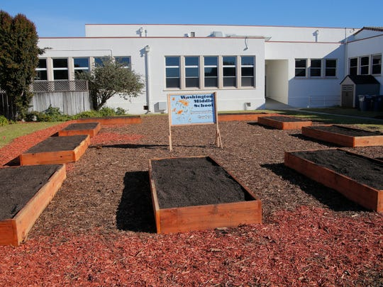 The Washington Middle School Community Garden is sponsored by the National Oceanic and Atmospheric Association's office of National Marine Sanctuaries.
