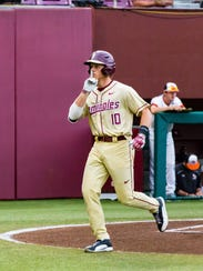 Florida State junior shortstop Taylor Walls was picked