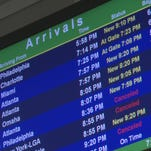 Winter blast causes delays and cancellations at JIA