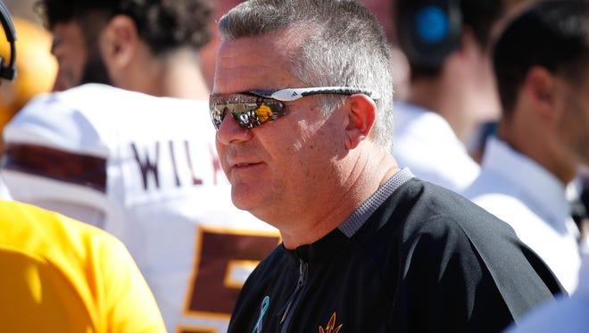 Arizona State Sun Devils head coach Todd Graham.
