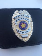 Ronald Taylor's concealed carry badge from the state