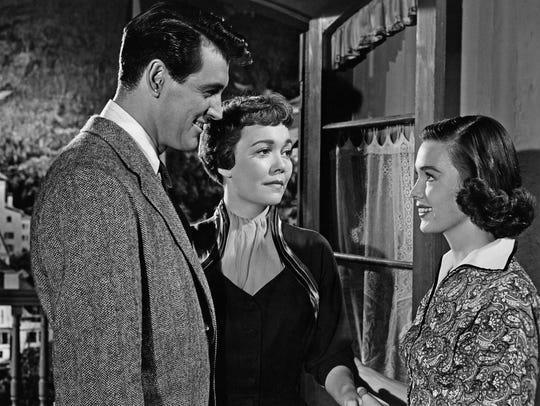 Rock Hudson, Jane Wyman, and Barbara Rush in Magnificent