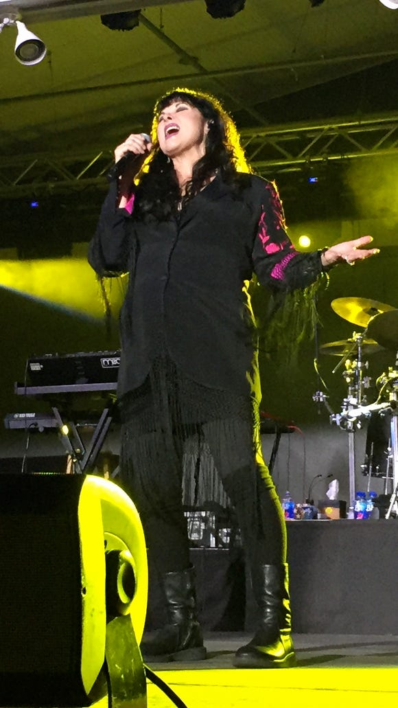 "Ann Wilson sings ""Magic Man"" at the Freeman Stage at Bayside near Selbyville Friday night."