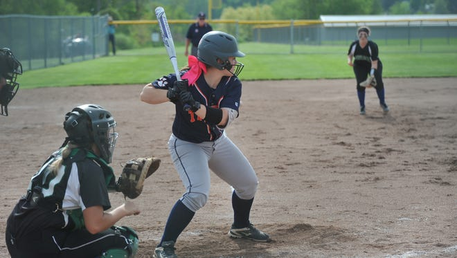 Kate Schieber awaits a pitch against Clear Fork in the district semifinal.
