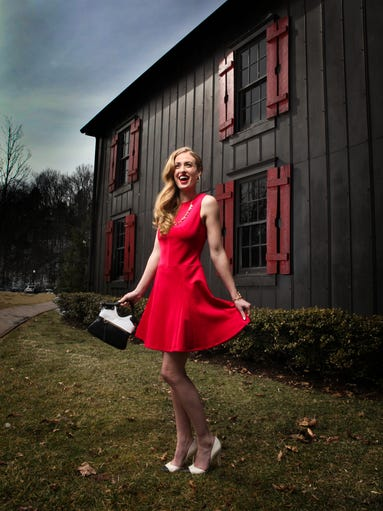 Jade Brownfield, for Heyman Talent, worked the grounds of the Makers Mark Distillery. She and our photographer, Michael Clevenger, produced a group of stunning images of great Derby-season fashions.