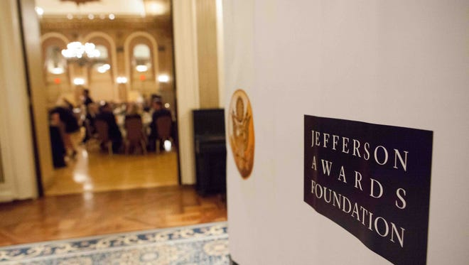 """The Jefferson Awards Foundation celebrates community volunteerism at their third-annual """"Salute to Service in Delaware"""" at the Gold Ballroom at the Hotel DuPont on April 20. Five Delaware projects are up for a national award."""
