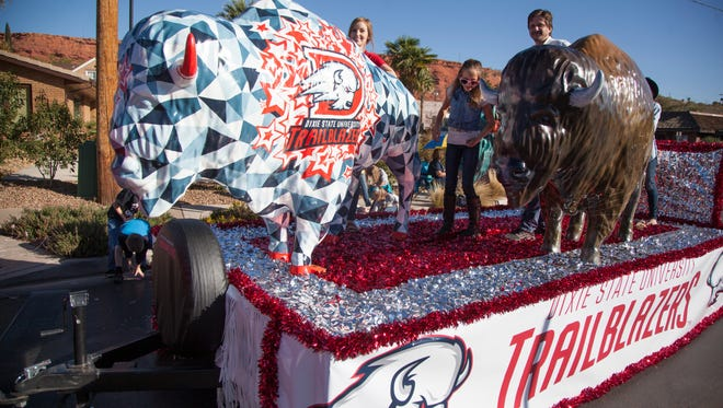Dixie State students and members of the community celebrate Homecoming week with a parade Saturday, Oct. 22, 2016.