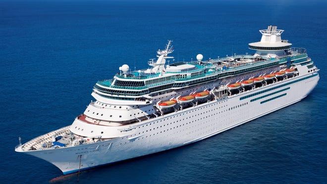 Royal Caribbean's 2,350-passenger Majesty of the Seas.