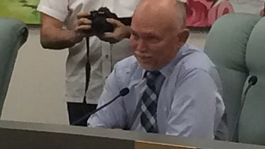 Bonita Springs Mayor Ben Nelson Jr. speaks during his last city council meeting as mayor, Nelson and four other council members leave their posts after election day, March 15.