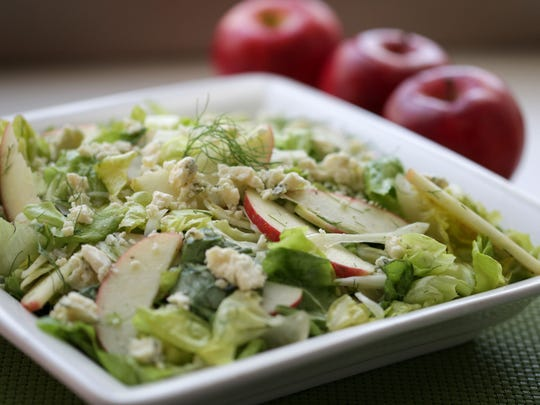 Apple and fennel salad with blue cheese.Tuesday, September 11, 2012JESSICA J. TREVINO/ Detroit Free Press