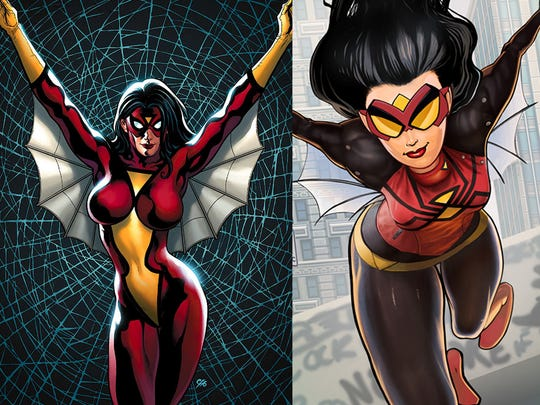 There are a few holdover elements between Spider-Woman's