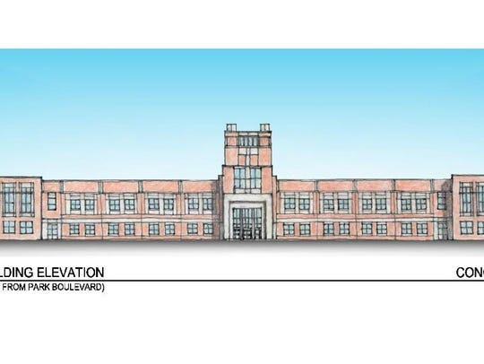 A rendering shows the concept for the new Camden High